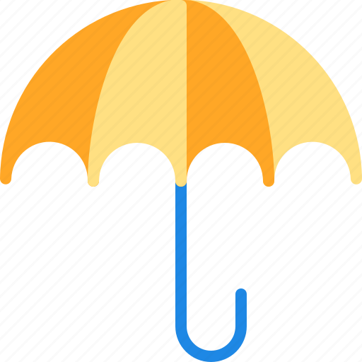beach, rain, umbrella, vacation icon