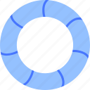 lifebelt, safe, sea, secure, swimming, tube, water icon