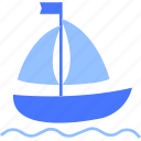 boat, holiday, sea, ship, summer icon