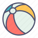 ball, beach, holiday, play, vacation, volleyball icon