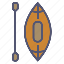 boat, boating, canoe, paddle, recreation, rowing, water icon