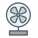 appliance, air, breeze, fan, device, table