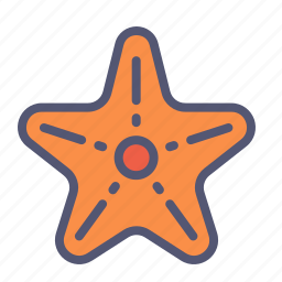 fish, marine, ocean, sea, star icon