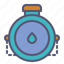 bottle, canteen, drink, flask, outdoors, travel, water icon