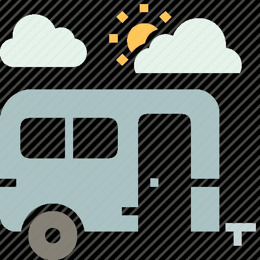 bus, camping, caravan, tour, tourist, travel, vacation icon