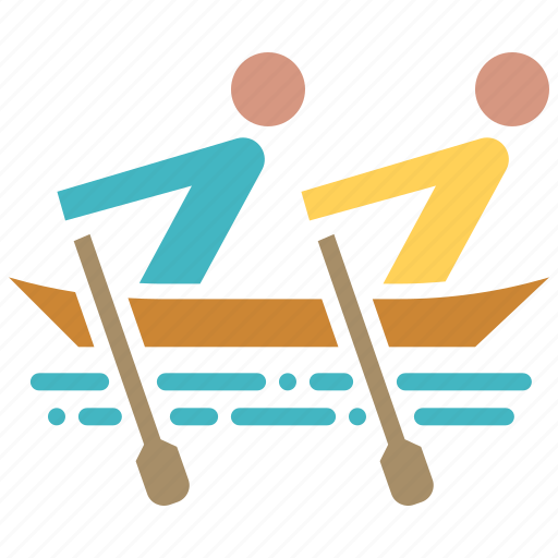 boating, holiday, recreation, rowing, summer, tourism, vacation icon