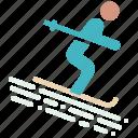adventure, recreation, ski, skiing, snow, vacation, winter icon