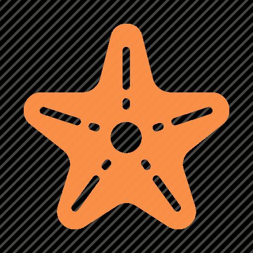 fish, marine, ocean, sea, star icon