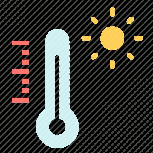 celsius, fahrenheit, heat, hot, summer, temperature, thermometer icon