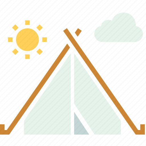 camp, camping, hiking, holiday, outdoors, tent, vacation icon