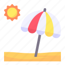 beach, holidays, island, landscape, nature, sun, umbrella icon
