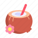 alcoholic, celebration, cocktail, coconut, drink, drinks, food icon