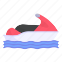beach, holidays, jetski, sea, summertime, transportation icon