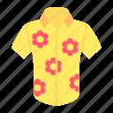 clothes, clothing, fashion, garment, hawaiian, shirt, skirt icon
