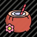 alcoholic, celebration, cocktail, coconut, drink, drinks, food