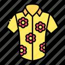 clothes, clothing, fashion, garment, hawaiian, shirt, skirt