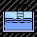 ladder, pool, sports, summertime, swim, swimming, water