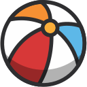 ball, beach, beach ball, fun, holidays, summer icon