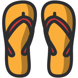 beach, holidays, slippers, summer icon