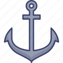 anchor, boat, equipment, nautical, ship, tool icon