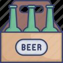 alcohol, beer, beverage, bottle, bottles, drink icon