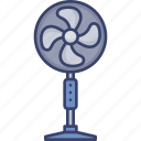 appliance, cooling, device, electric, electronic, fan icon