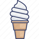 cone, cream, dessert, food, ice, sweets icon