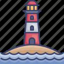 beach, lighthouse, ocean, sea, summer, tower, vacation