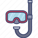 activity, diving, mask, snorkle, snorkling, sport icon