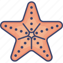 fish, nature, ocean, sea, starfish, wildlife icon