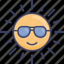 forecast, heat, summer, sun, sunglasses, sunny, weather icon