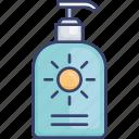 cream, lotion, protection, sun, sunlotion, sunscreen icon