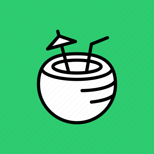 beach, coconut, holiday, tourism, tropical, vacation, water icon