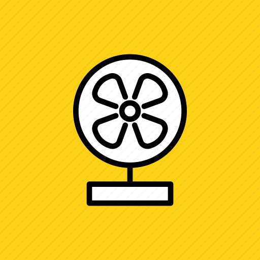 air, appliance, breeze, device, fan, table icon
