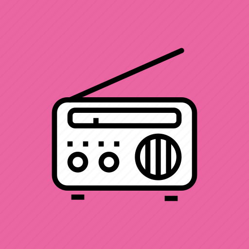 communication, device, fm, listen, media, radio, songs icon