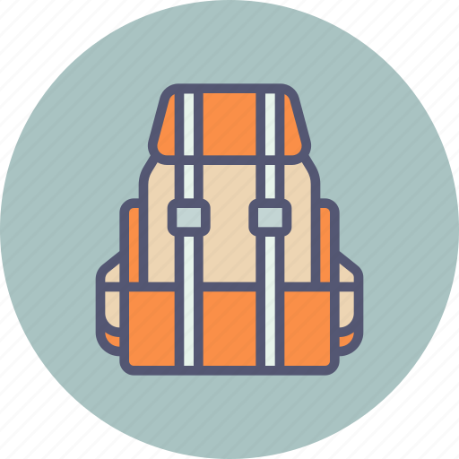 backpack, baggage, camping, hiking, luggage, travel, vacation icon