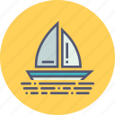 boat, boating, holiday, sail, travel, vacation, yacht icon