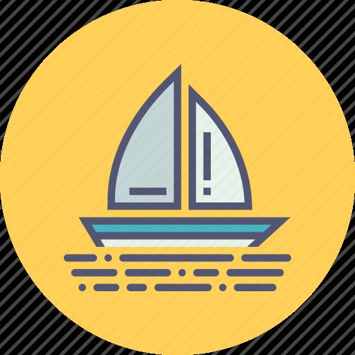 boat, boating, holiday, sail, travel, vacation, yacht icon