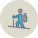 camping, expedition, hiker, hiking, holiday, tourist, vacation icon