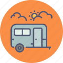 bus, camping, caravan, tour, tourist, travel, vacation icon