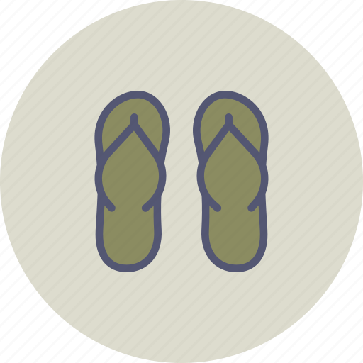 beach, casual, fashion, flipflops, footwear, holiday, vacation icon