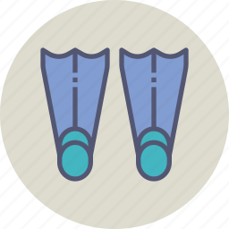 diving, flippers, scuba, sea, swim, swimming, water icon