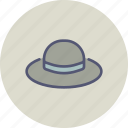 accessory, brim, clothing, fashion, hat, summer, wear icon