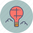 air, balloon, fly, holiday, hot, parachute, travel icon