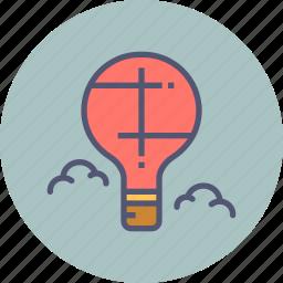 air, balloon, fly, holiday, hot, parachute, travel icon