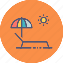 bath, beach, pool, relax, sun, umbrella, vacation icon