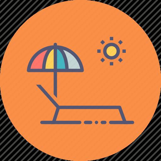 bath, beach, pool, relax, sun, umbrella, vacation icon