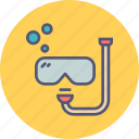 activity, diving, marine, recreation, scuba, snorkeling, water icon