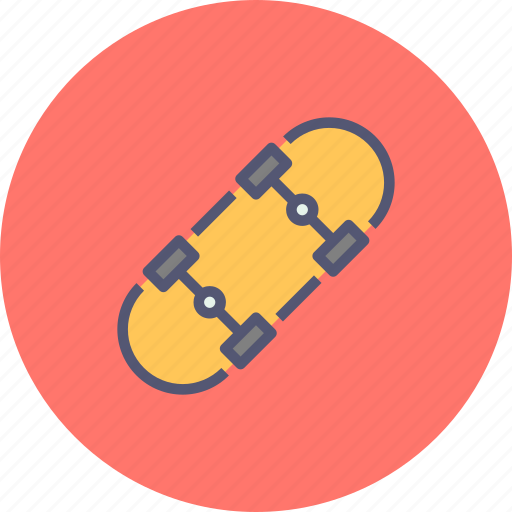 activity, fun, recreation, skate, skateboard, skating icon