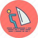beach, holiday, recreation, skiing, summer, surfing, vacation icon